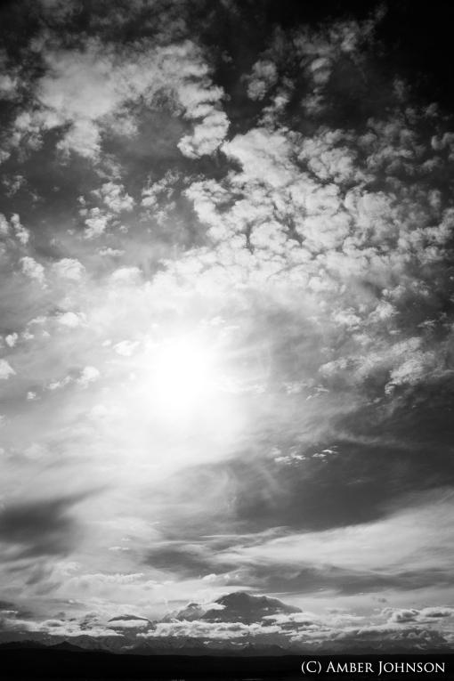 bw denali clouds