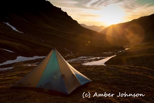tent sunset
