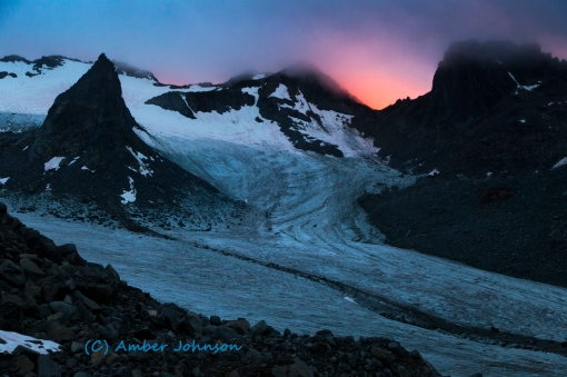 sunset glacier